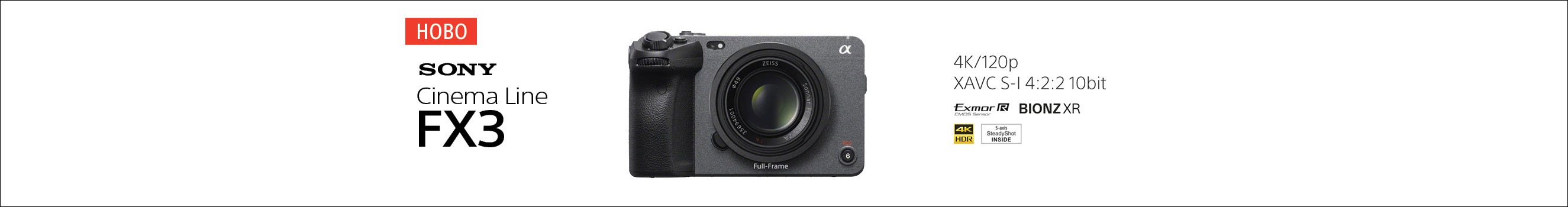 Sony FX3 with Lens Discount and Extended Warranty