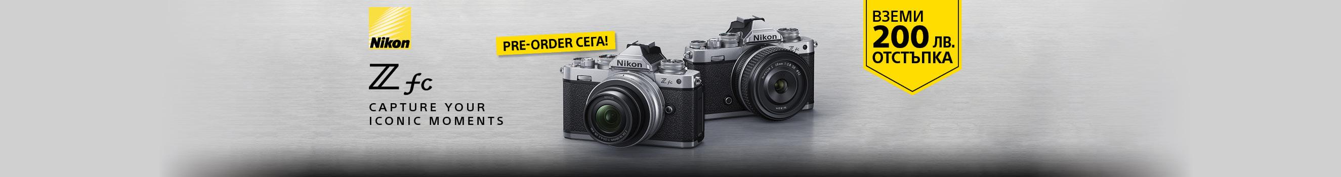 Фотоапарат Nikon Z fc на промо цена в магазини ФотоСинтезис