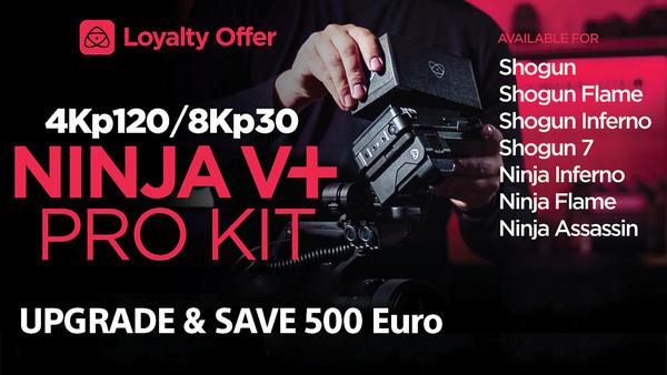 Монитор Atomos Ninja V+ Pro Kit с 500 евро отстъпка в магазини ФотоСинтезис